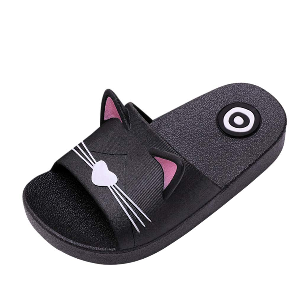 Amazon.com | Family Indoors Slippers, Men&Women Babys Home Cartoon Cat Slippers Floor Family Shoes Beach Sandals | Shoes