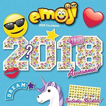 Calendario 2018 Smiley - Emoji - Emotion + incluye un ...
