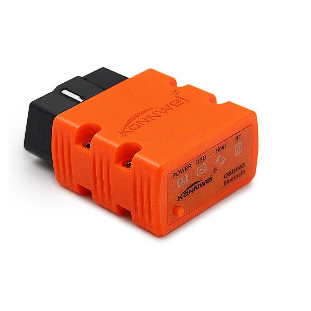 Compatible avec Android et Windows PC Bluetooth sans fil Outil de diagnostic auto KONNWEI KW902 Mini ELM327 OBD-II