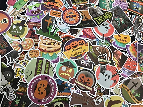 100 Halloween Holiday Stickers Vinyl Decals Lot for Kid Trick Treat Party Gift ()