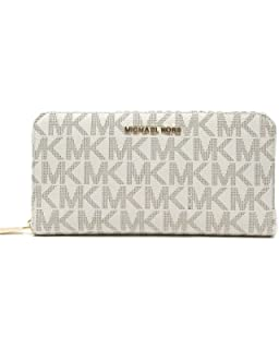 ac3102135c2ee Michael Kors Boxed Metallic Travel Continental Wallet with Signature ...