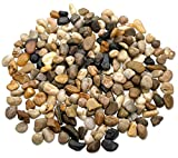 2 Pounds Decorative River Rock Stones - Natural Polished Mixed Color Stones Use In Glassware Like Vases Aquariums And Terrariums To Enhance The Appearance By Katzco
