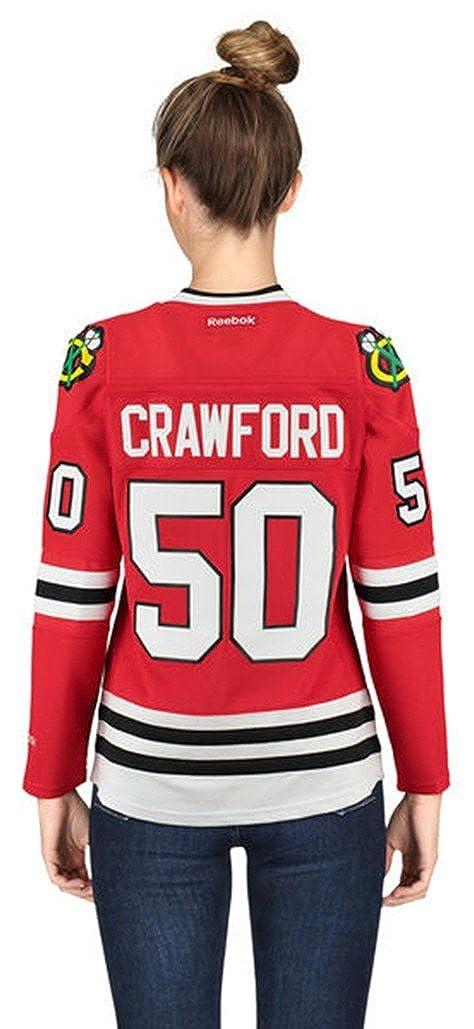 20dd61ebf70 Amazon.com: Chicago Blackhawks Women's Corey Crawford #50 Premier Stitched  Jersey-10768 (X-Large): Clothing