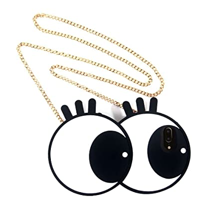 b210716e2d8 Big Eyes Soft Silicon Case Cover for iPhone 7 Plus w Crossbody Metal Chain