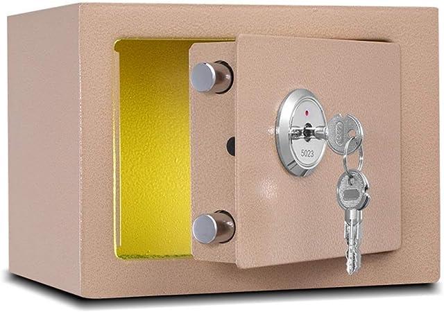 RMXMY Caja de Seguridad Lado de la Cama de Acero con Cerradura mecánica pequeña y antirrobo: Amazon.es: Hogar
