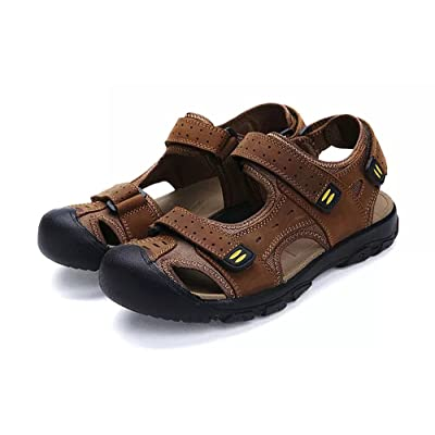 Amazon.com | Asifn Men Outdoor Hiking Sandals Breathable Athletic Climbing Summer Beach Shoes Mens Closed Toe Sport Sandal | Slippers