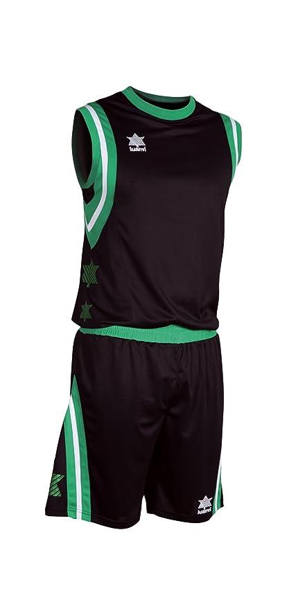 Luanvi - Conjunto basket pivot, talla l, color negro / verde ...