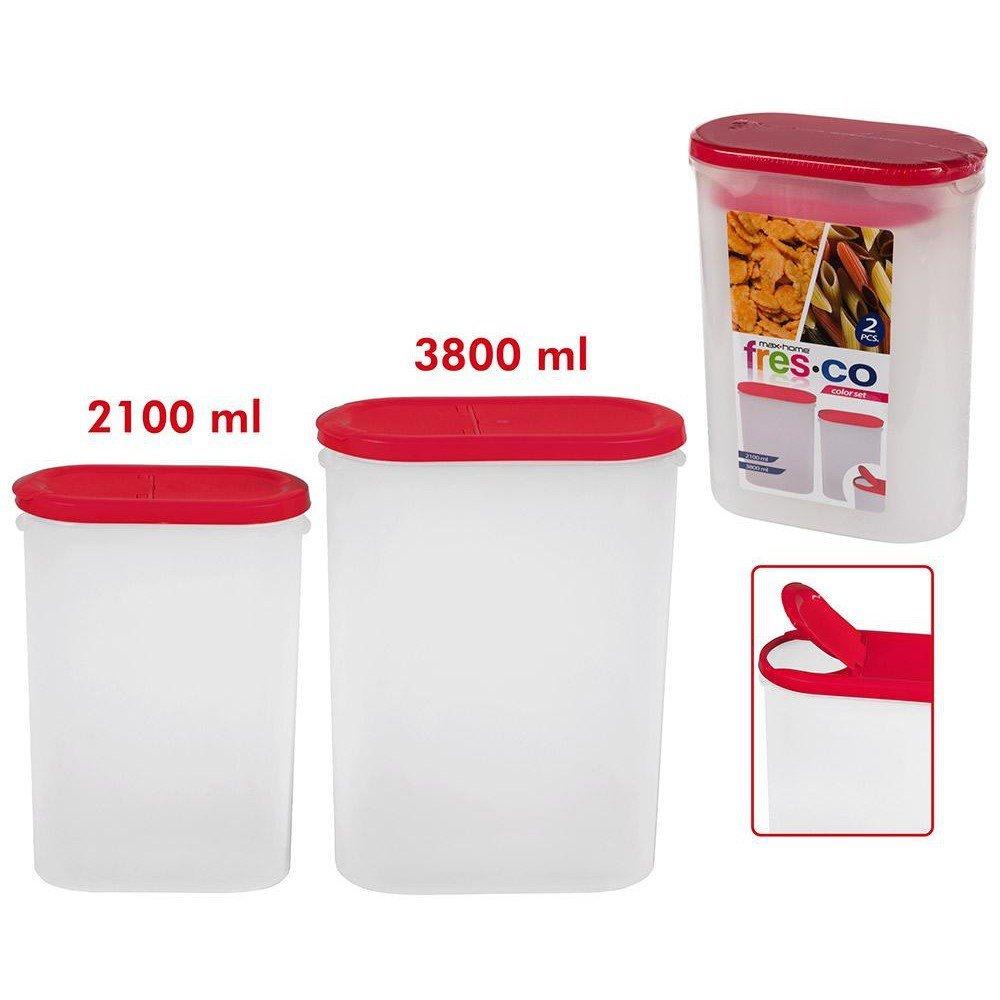 ColorBaby 16356 Set 2 recipientes, 2100/3800 ml Transparente 20.00 ...