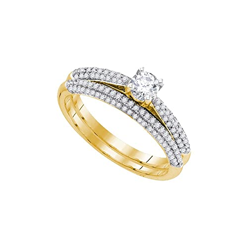 Jewels By Lux Anillo de Diamantes de Oro Amarillo de 14k para Mujeres 5