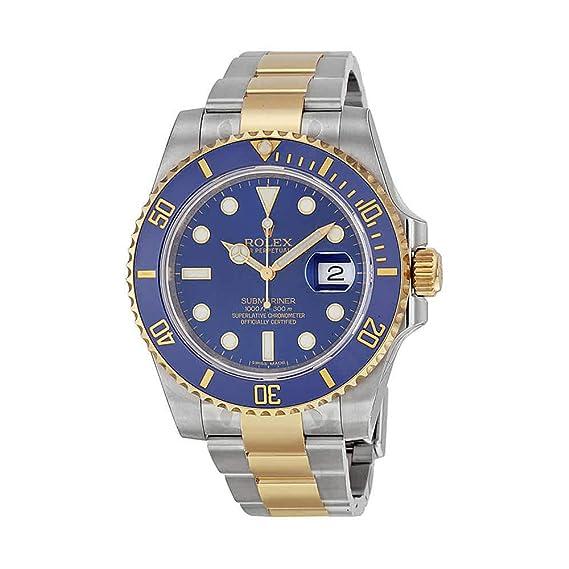 Rolex Submariner Azul Dial Acero inoxidable Acero y 18 K Amarillo Oro Rolex Oyster - Reloj automático para hombre 116613blso: Amazon.es: Relojes