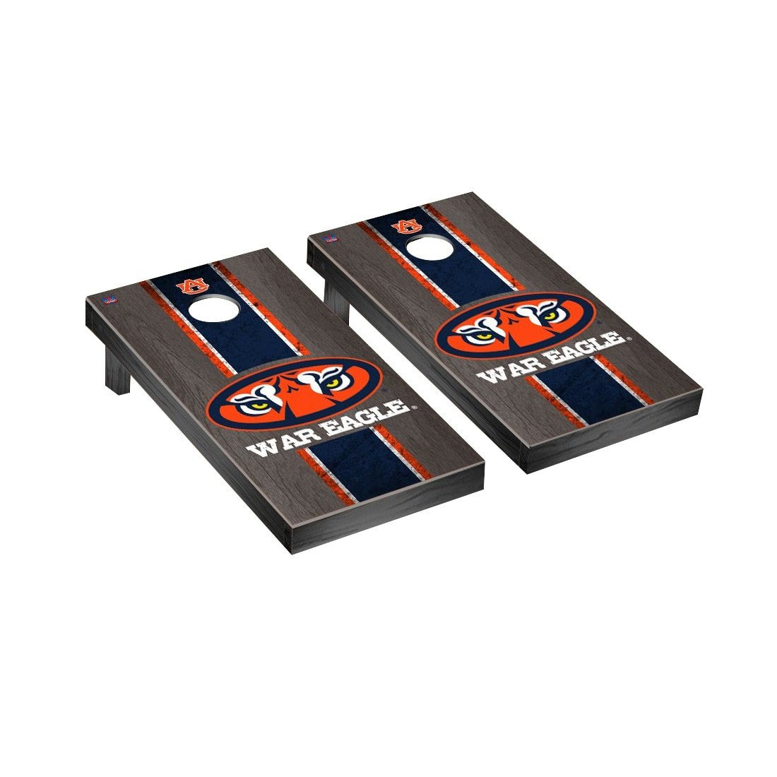 Victory Tailgate Auburn Tigers Regulation Cornhole Game Set Onyx Stained War Eagle Version