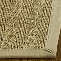 Safavieh Natural Fiber Collection NF115A Herringbone Natural and Beige Seagrass Area Rug (3 x 5)
