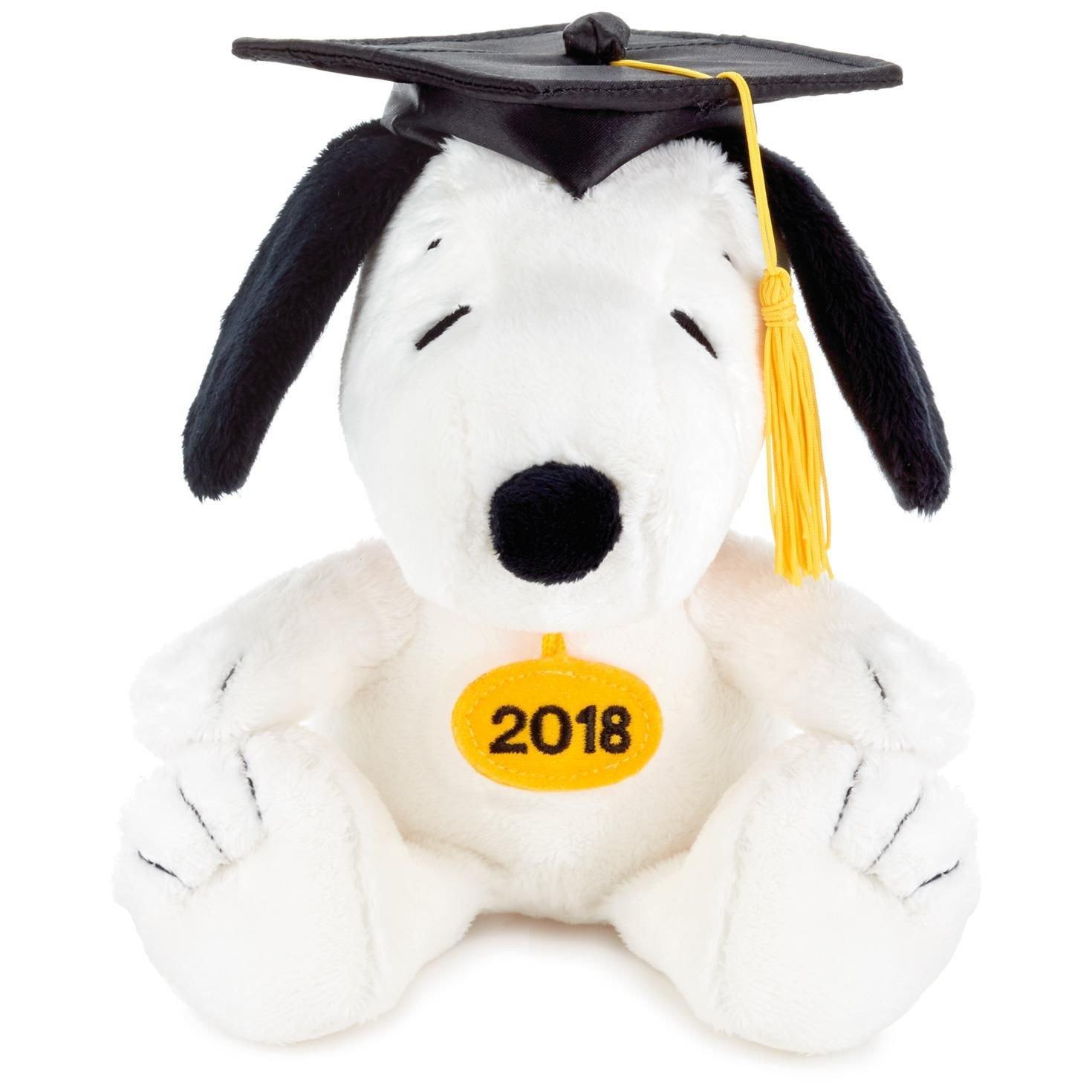 Amazon Com Hallmark Snoopy 2018 Graduation Stuffed Animal Gift Card