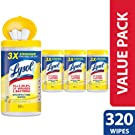 Lysol Disinfecting Wipes, Lemon & Lime Blossom, 320ct (4X80ct),Packaging May Vary