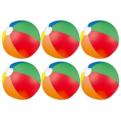 eBuyGB Pack de 12 pelotas de colores inflables para juegos de piscina de playa, multicolor