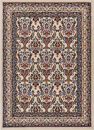 (Well Woven PA-30-4 Persa Shiraz Traditional Panel Ivory Area Rug 3'11
