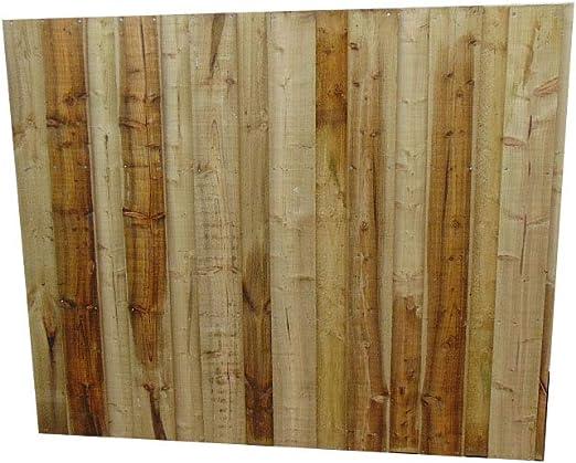 Smileswoodcraft Valla de madera para jardín – Panel de valla con parte superior plana: Amazon.es: Jardín