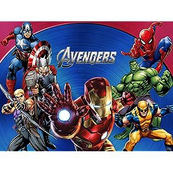 Amazon.com: MarvelAvengers - Fondo de cumpleaños para ...