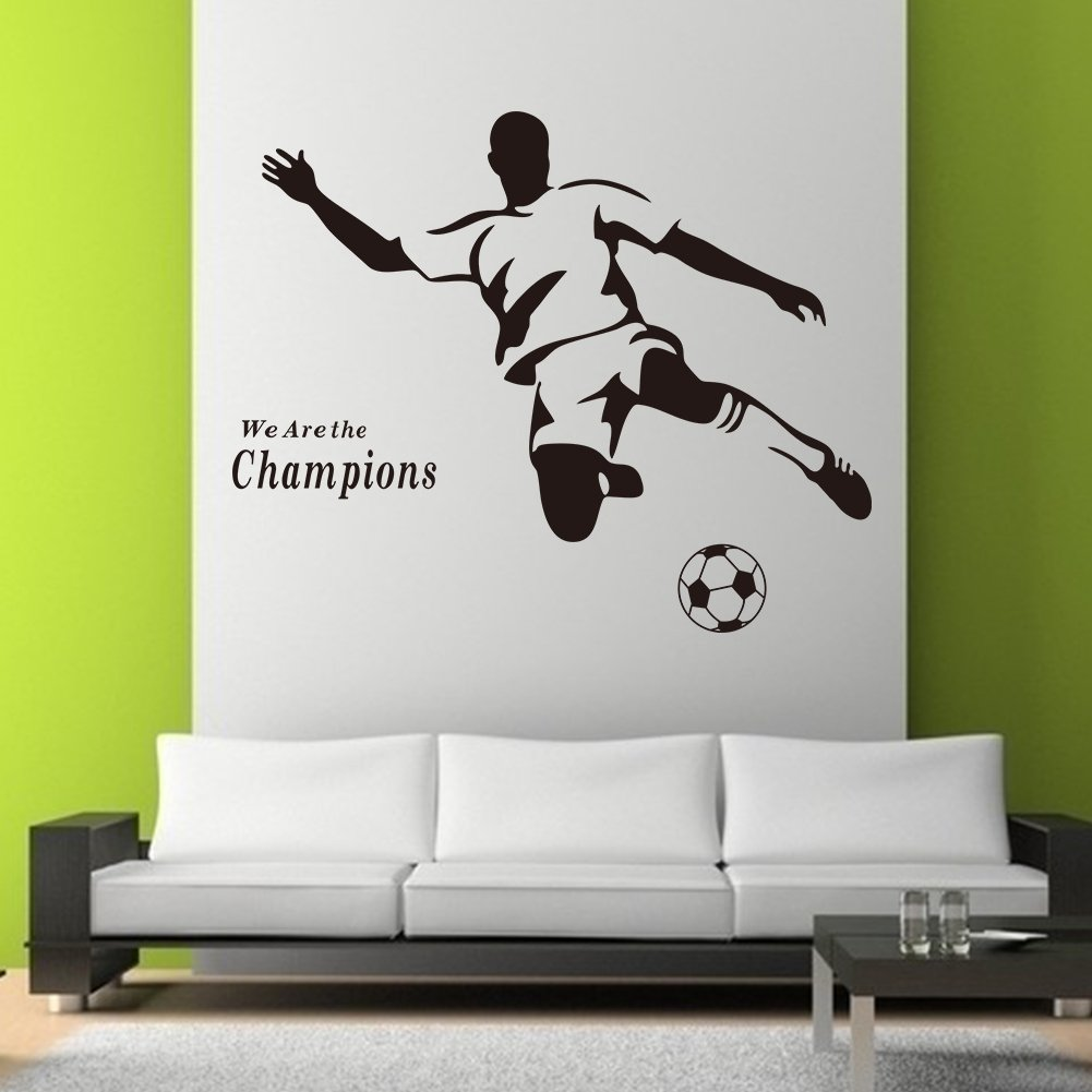 FOOTBALL CHILDREN WALL STICKERS LARGE SET OF STICKERS KIDu0027S BEDROOM DECOR  NURSERY DECALS ART MURAL Football