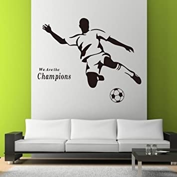 FOOTBALL CHILDREN WALL STICKERS LARGE SET OF STICKERS KIDu0027S BEDROOM DECOR  NURSERY DECALS ART MURAL Football Awesome Ideas