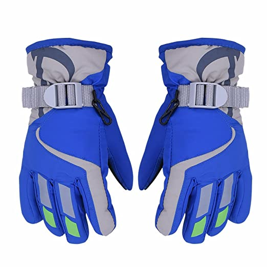 AONIJIE Children s Ski Gloves Waterproof Windproof Warm Lining Outdoor  Sports Snow Gloves For 5-10 a6711305a