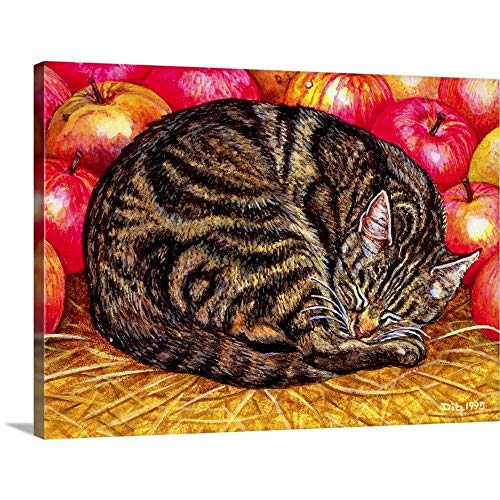 GREATBIGCANVAS Gallery-Wrapped Canvas Entitled Left-Hand Apple-Cat, 1995 by Rosie Ditz 16