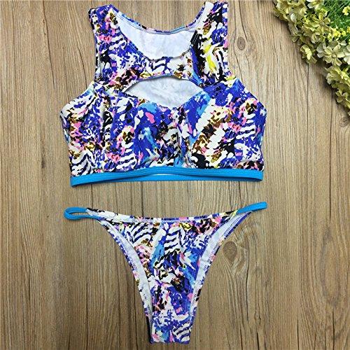 Bademode Hosen Badeanzug Leopardenmuster Bikini Neuen Einen Bikinis L