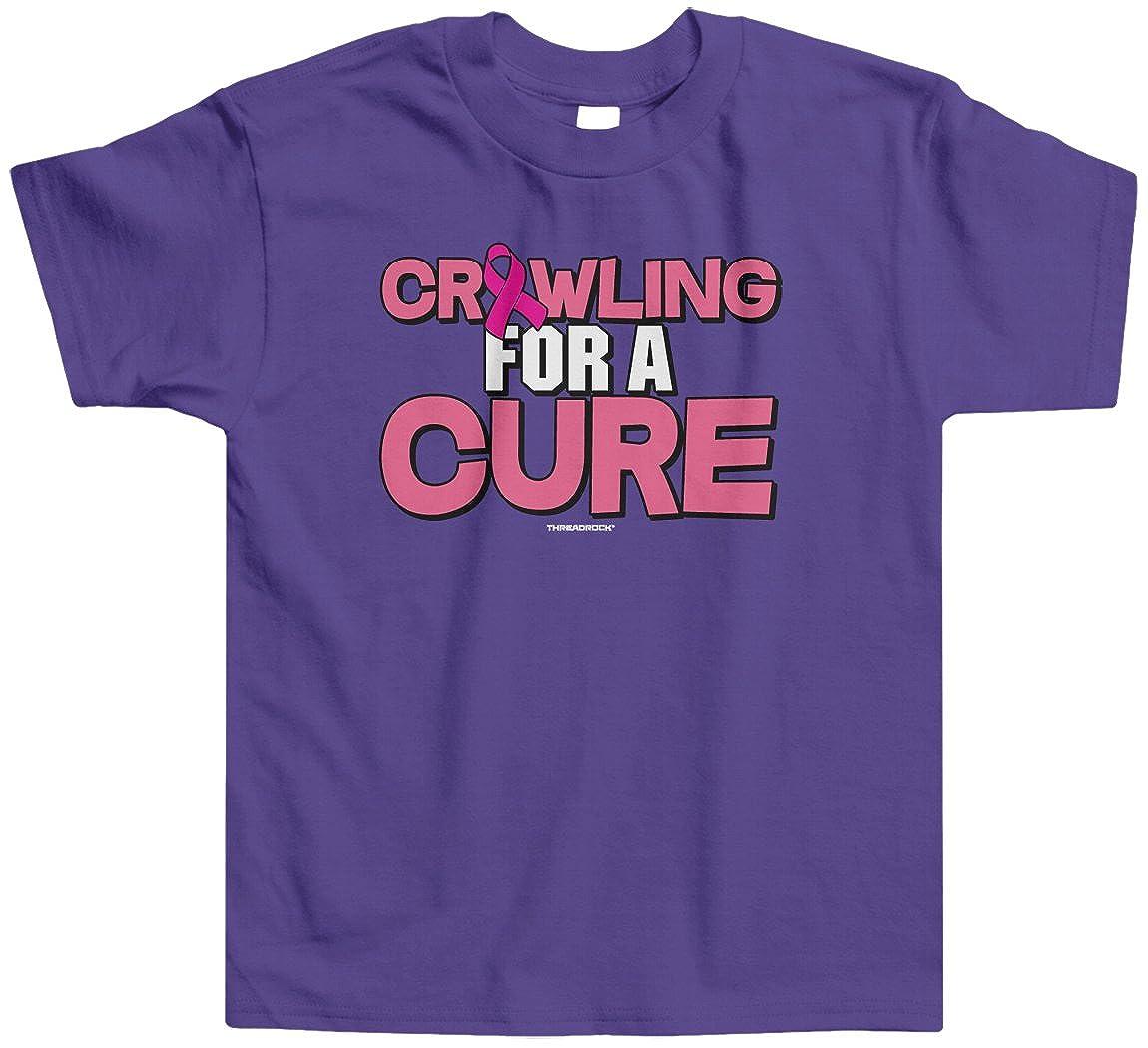 Threadrock Little Girls Crawling for a Cure Toddler T-Shirt