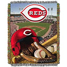"""Officially Licensed MLB Home Field Advantage Woven Tapestry Throw, 48"""" x 60"""