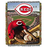 "The Northwest Company MLB Cincinnati Reds Home Field Advantage Woven Tapestry Throw, 48"" x 60"""