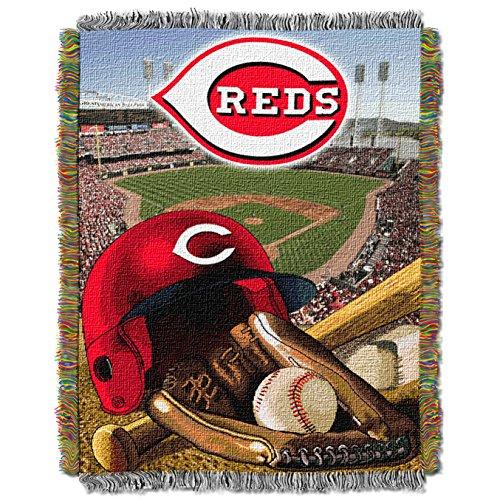 Field Cincinnati Reds Mlb Baseball - The Northwest Company MLB Cincinnati Reds Home Field Advantage Woven Tapestry Throw, 48
