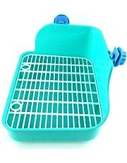 Da.Wa Pet Clean Toilette lettiera angolare lettiera igienica House Doppia Maglia Triangolo Angolo WC vasino per Piccoli Animali Criceto Coniglio cavia