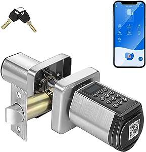 WE.LOCK Smart Lock, Keyless Entry Door Lock with Bluetooth, Door Locks with Keypads, Auto Locking Digital Door Knob with APP for Home Hotel Garage Interior Doors