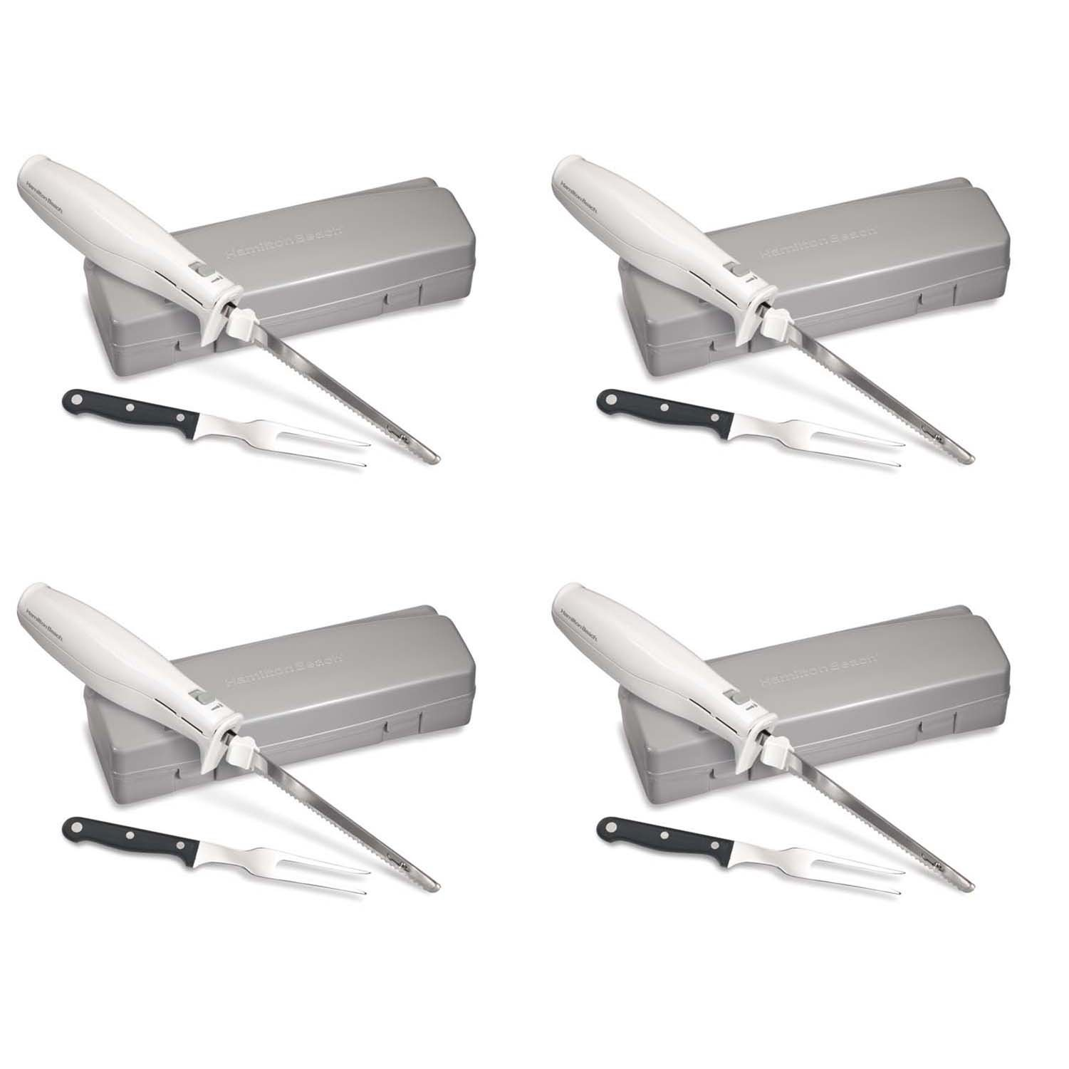 Hamilton Beach 74250 Carve 'n Set Electric Knife with Case (4 Pack)