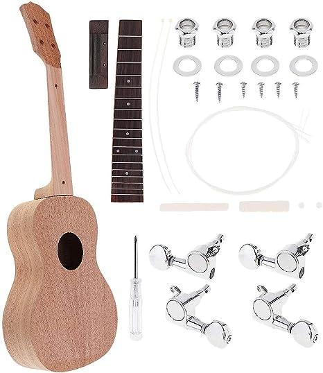 Nrpfell Ukulele De Concierto Diy Kit 23 Pulgadas Guitarra Hawaiana ...