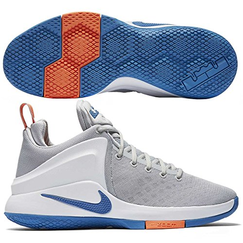 NIKE Mens Lebron Zoom Witness Basketball Shoes (12 D(M) US, Silver/White)