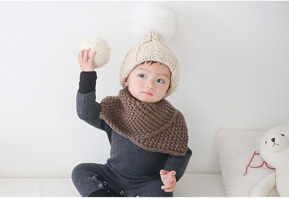 DOEUS Autunno Inverno Ragazzi Ragazze Collare Bambino Sciarpa Cotone O Ring collo sciarpa per Natale Ringraziamento Capodanno regalo per Bambino 2-13 anni
