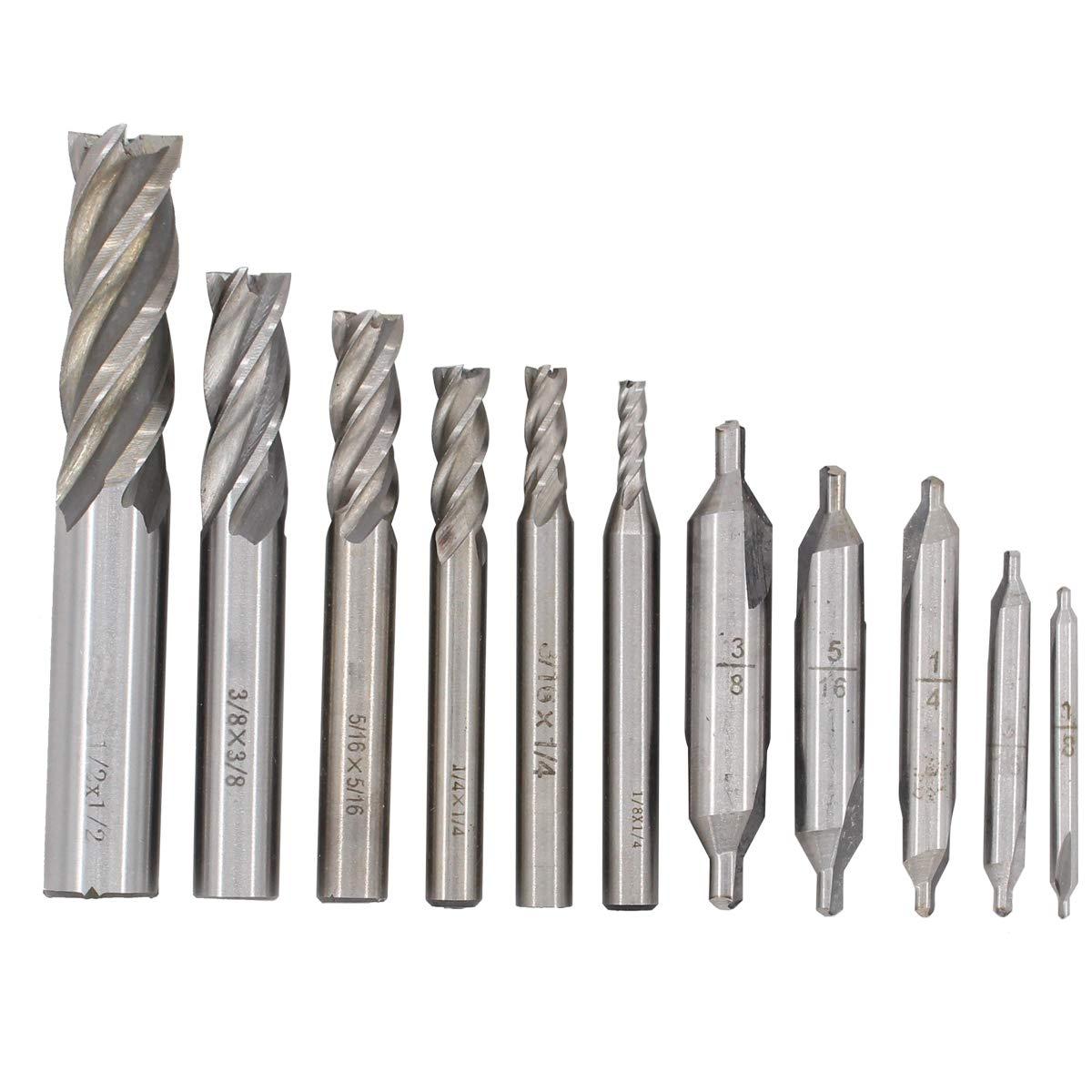 "5Pcs HSS 5//16/""x5//16/"" CNC Shank 4 Flute Endmill Milling Machine Cutter Bit"