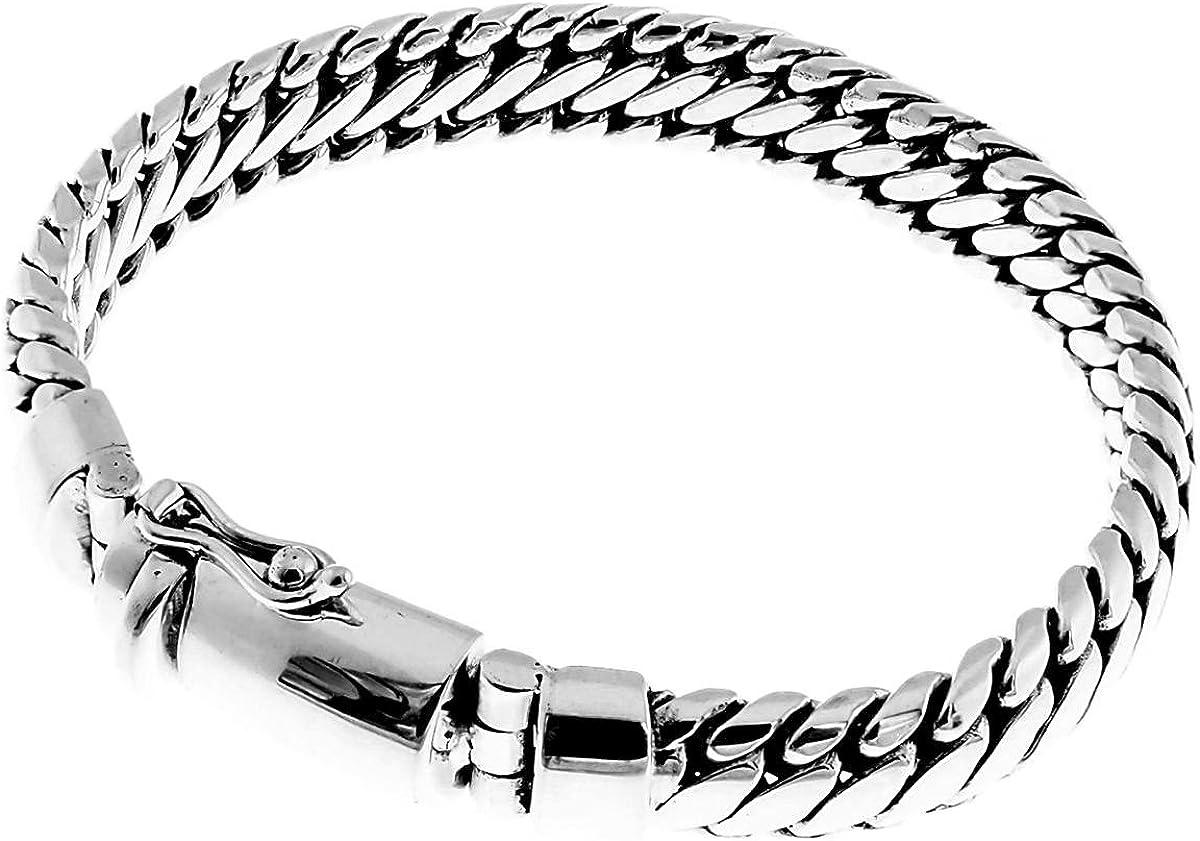 Sterling Silver .925 Snake Bracelet 8 Inch