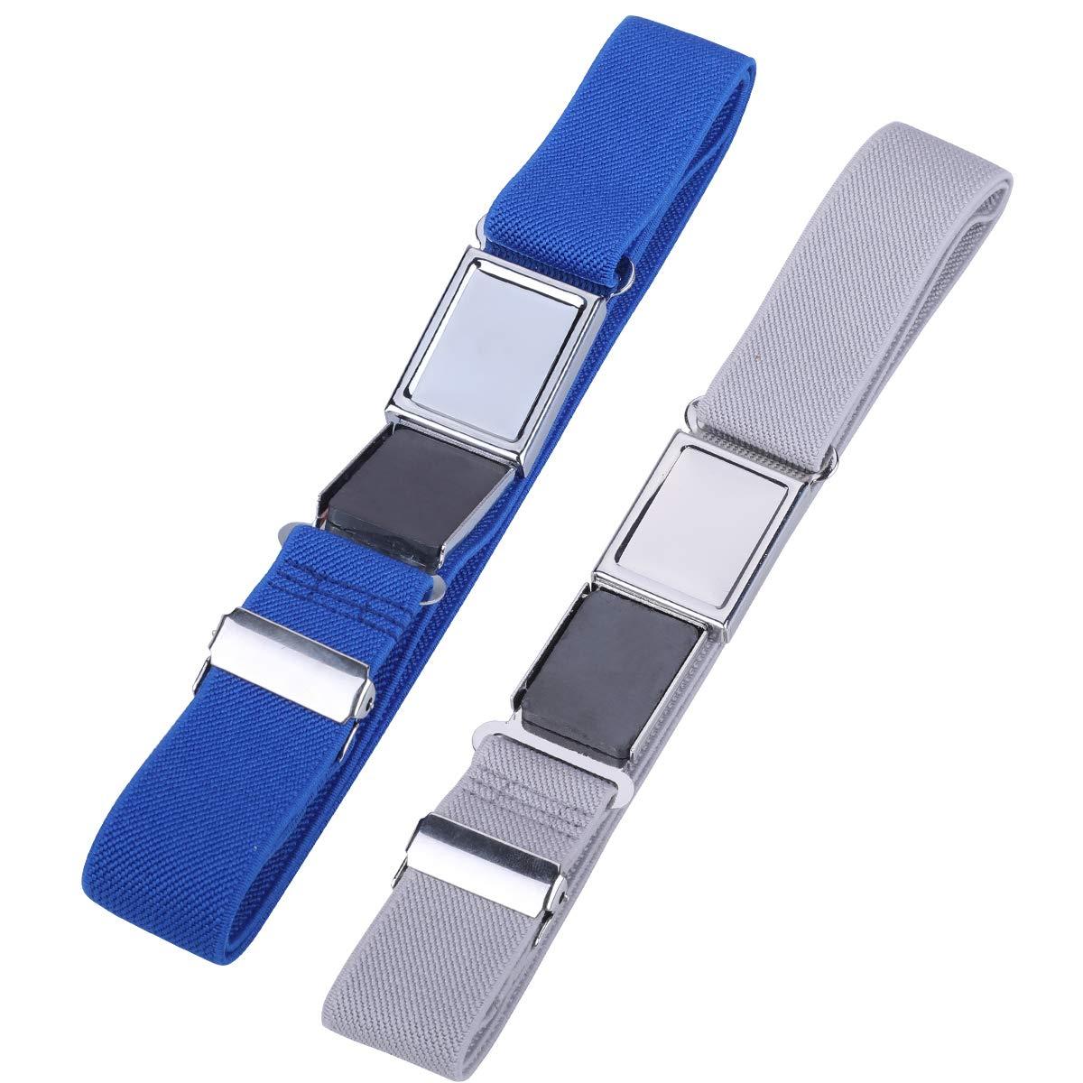 Kids Adjustable Magnetic Belt for Boys Girls Elastic Stretch Buckle Belts by WELROG