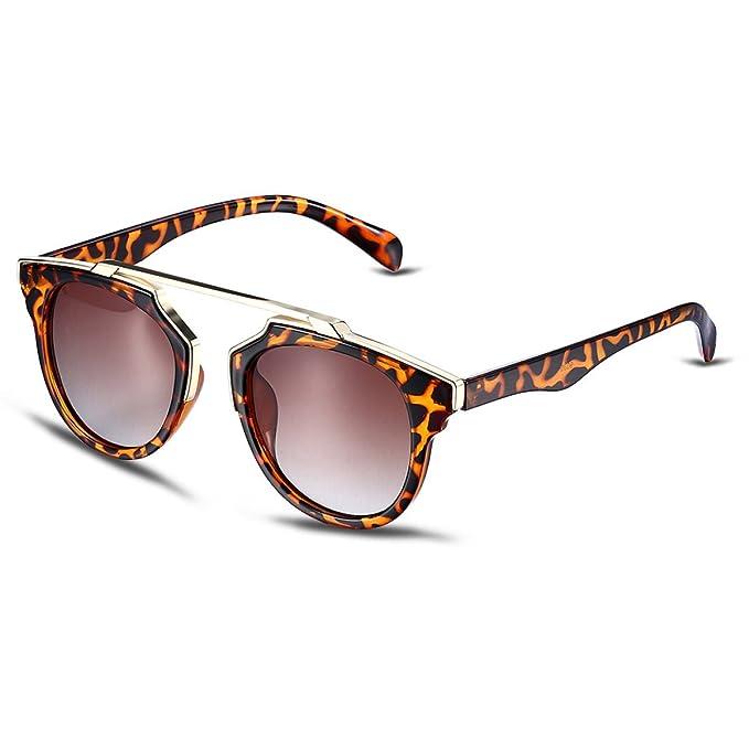 HSNZZPP Señoras De Las Gafas De Sol Gafas De Sol Redondas De Leopardo Gafas De Sol Polarizadas, A-OneSize: Amazon.es: Ropa y accesorios