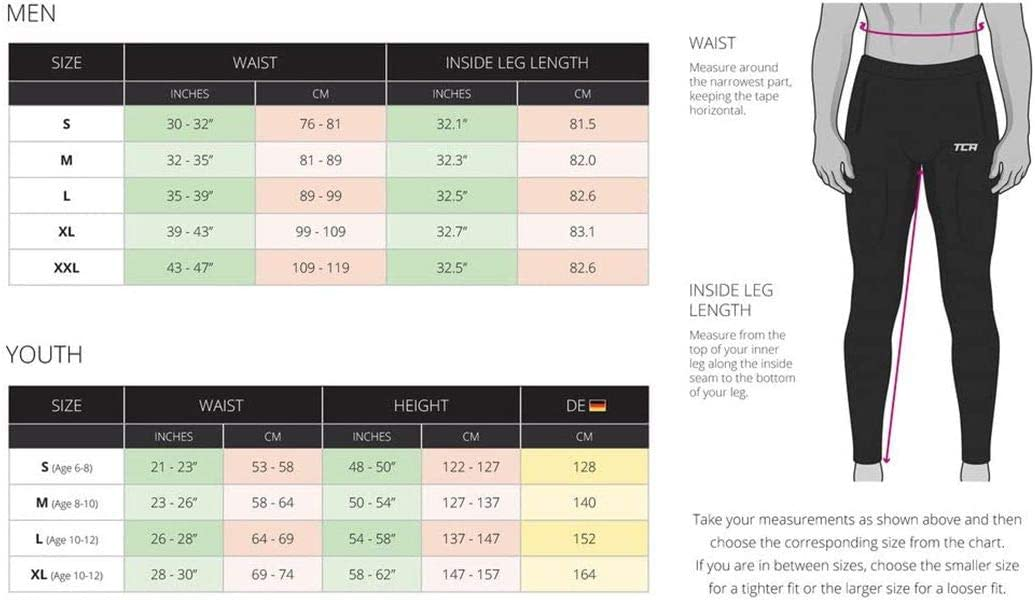 Nero 12-14 Anni XL Ragazzi PowerLayer Baselayer Running Leggings da Ragazzi