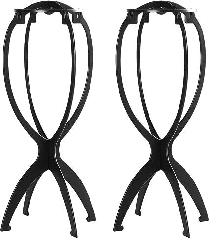 YUNSI 2 unidades de soportes cortos para pelucas, 14,2 pulgadas ...