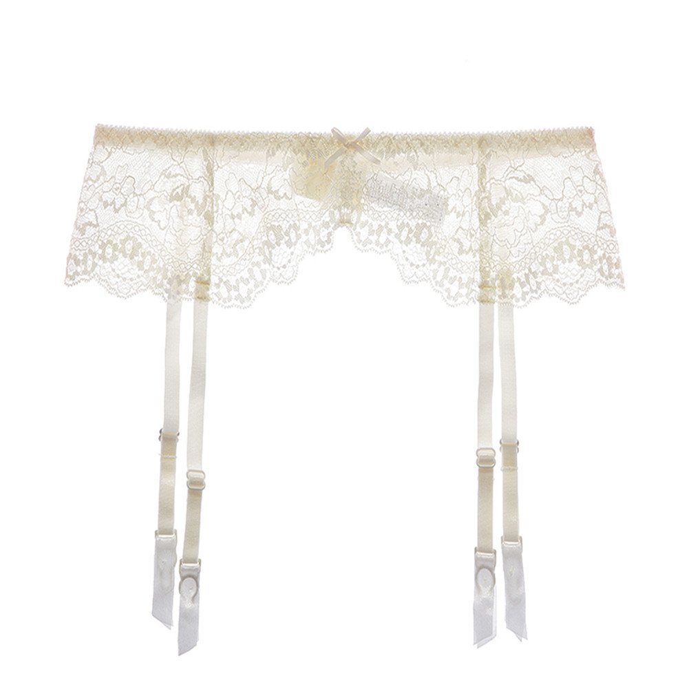 d2e722f8f3c Galleon - Varsbaby Women Sexy Lace Suspender Garter Belt For Thigh High  Stockings (White