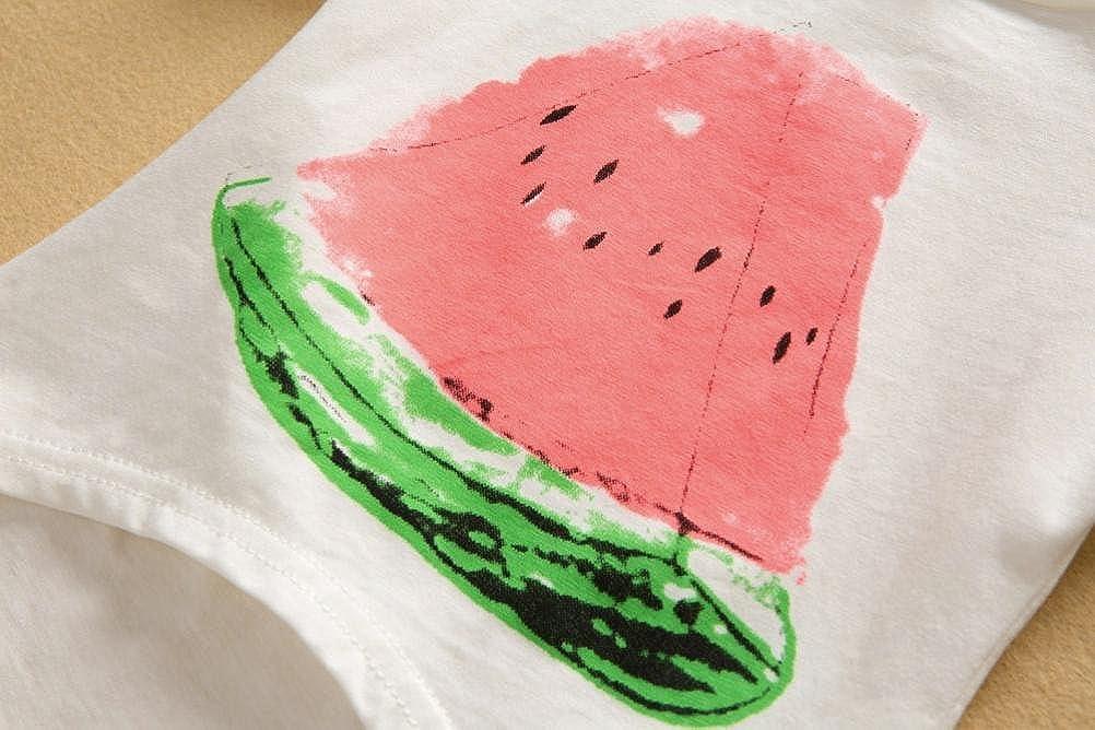 Bambina 2pcs Neonata Ragazze Stampa Anguria T-Shirt Camicia Cime Pantaloncini Completo Set Jimmackey