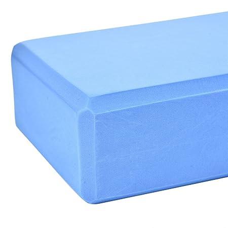 Taco de goma EVA Hjuns para yoga, 23 x 15 x 8 cm, azul ...