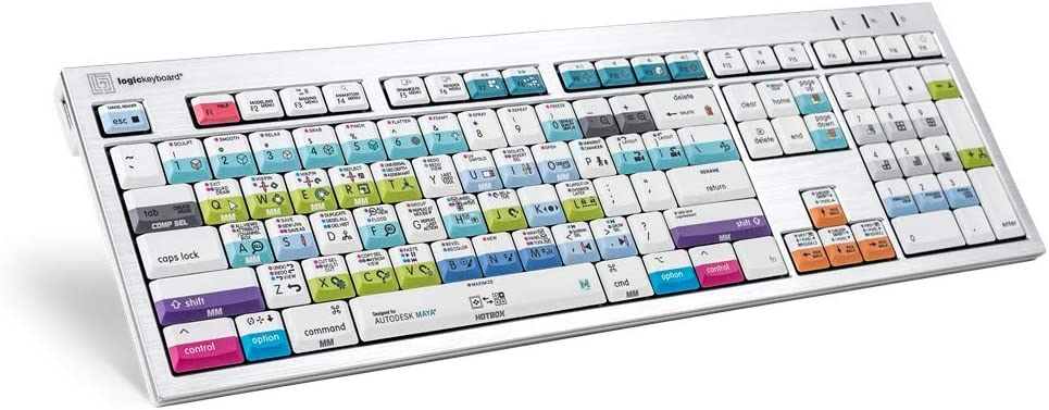 LogicKeyboard Autodesk Maya ALBA Compatible with Mac Pro US Part LKB-Maya-CWMU-US