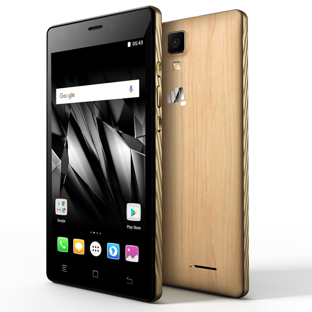 279b38274 Micromax Canvas 5 Lite Q463 (Maple Wood)  Amazon.in  Electronics