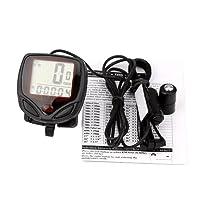 Hunpta@ Speedometer Odometer, 1PC Waterproof Bicycle Bike Cycle LCD Display Digital Computer Speedometer Odometer