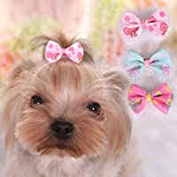 FidgetGear 10PCS Lot Dog Hair Bows Grooming Small Pet Puppy Cat Hairpin Yorkie Hair Bowknot